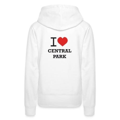 Huppari JCI ja I Love Central Park -logoilla - Naisten premium-huppari