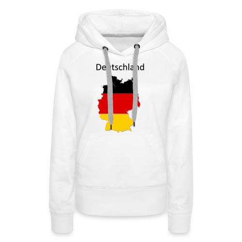 Deutschland Karte - Frauen Premium Hoodie