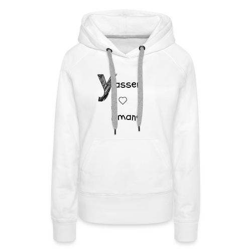 Yasser et Imane - Sweat-shirt à capuche Premium pour femmes