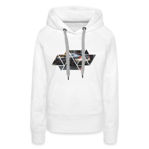 Triangles Black - Felpa con cappuccio premium da donna