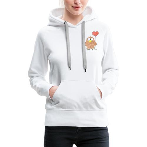 Niki Owl Amor / Amor - Sudadera con capucha premium para mujer