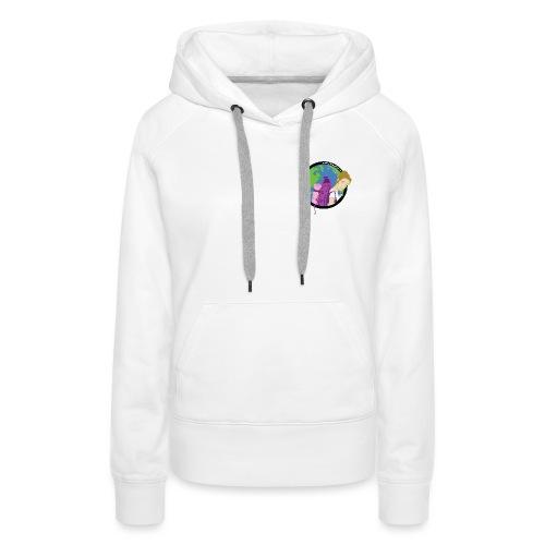 logo-voyageur-noir - Sweat-shirt à capuche Premium pour femmes
