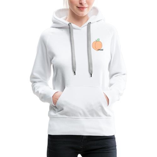 Peach Noir - Sweat-shirt à capuche Premium pour femmes