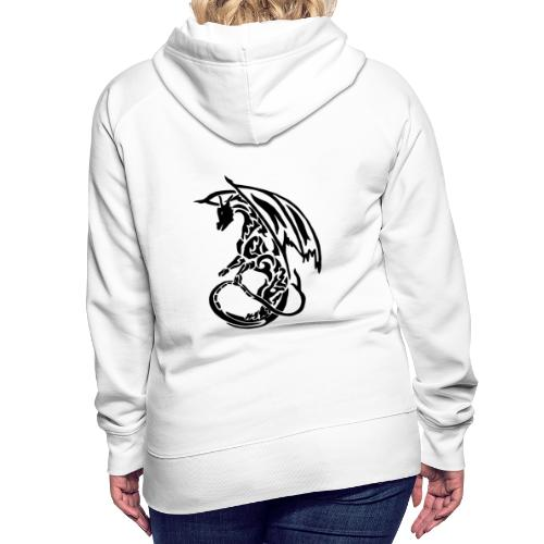 Hoodie Eaven Tribal - Dragon Clair Femme - Sweat-shirt à capuche Premium pour femmes