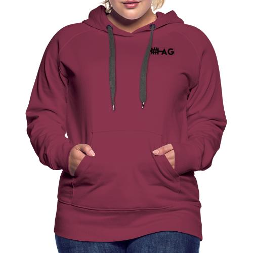 LOGO H#TAG - Sweat-shirt à capuche Premium pour femmes