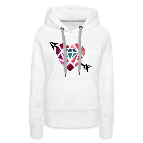 Heart Galaxy - Sudadera con capucha premium para mujer