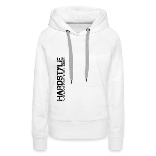 HARDSYTLE4 png - Frauen Premium Hoodie