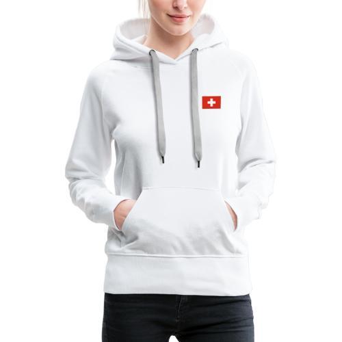 Bandera de Suiza - Sudadera con capucha premium para mujer