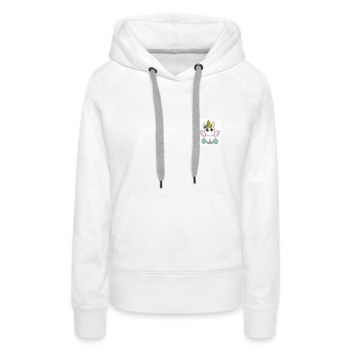 Licorne POWER - Sweat-shirt à capuche Premium pour femmes