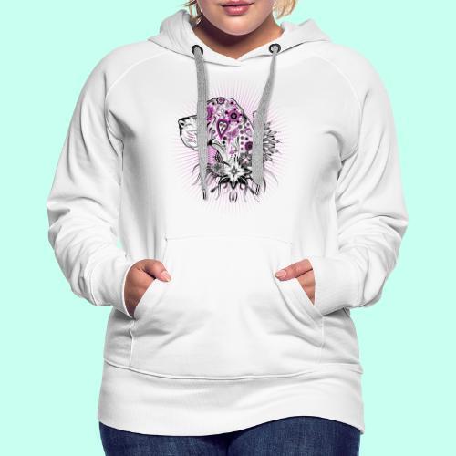 Doggen Portrait Tattoo Style - Frauen Premium Hoodie