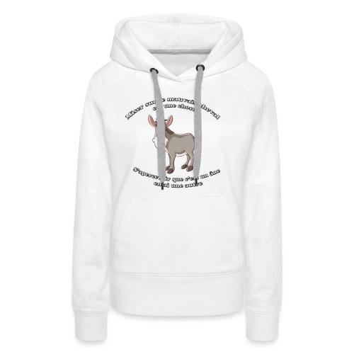 HI HAN by LOL+LOL=MDR - Sweat-shirt à capuche Premium pour femmes