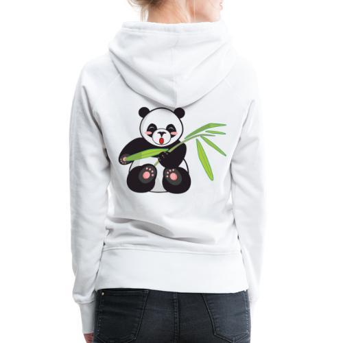 Panda x Levitation Noir - Sweat-shirt à capuche Premium pour femmes