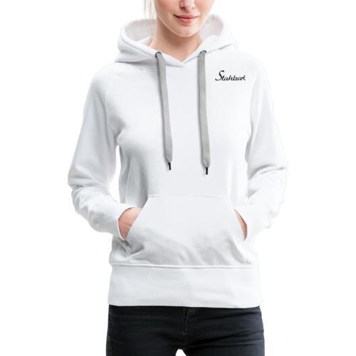 Stahlzart Original S - Hoodie Damen weiß grau - Frauen Premium Hoodie
