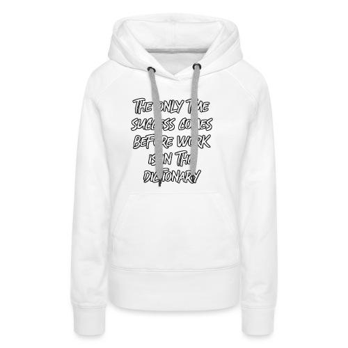 Motivation Erfolg Typografie Harvey - Frauen Premium Hoodie