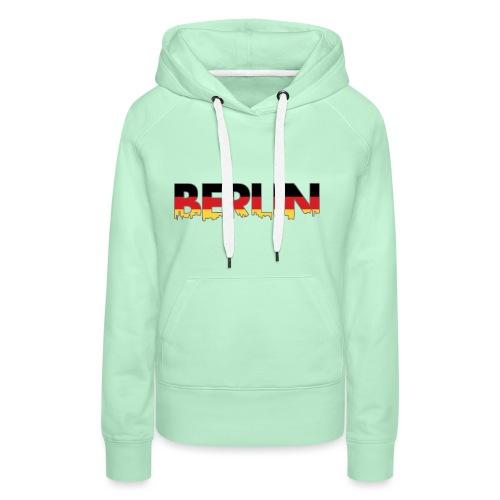 Berlin Typografie - Frauen Premium Hoodie