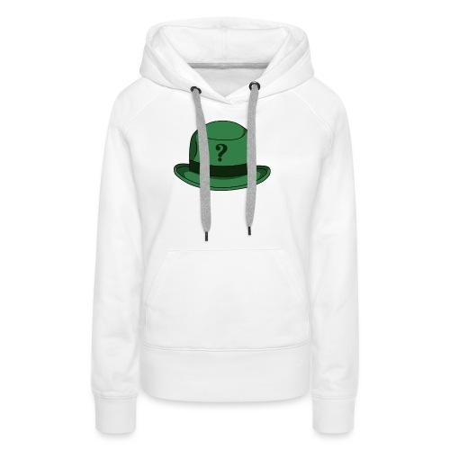 Grüner Rätsel Hut Riddler - Frauen Premium Hoodie