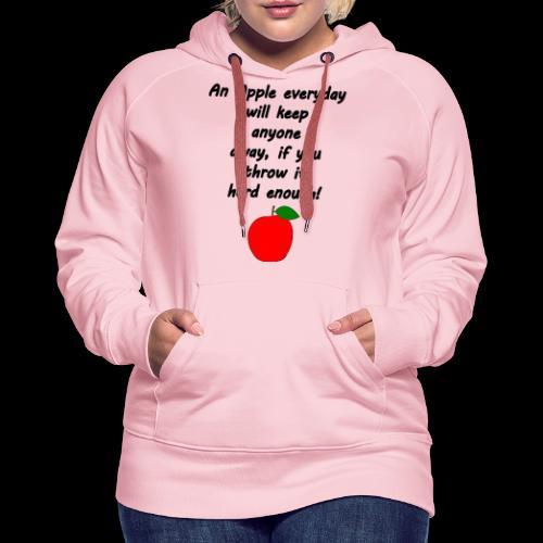 Apple Apfel Doctor Zitat Spruch Lustig - Frauen Premium Hoodie
