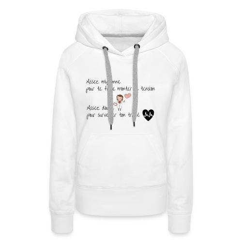 AS noir png - Sweat-shirt à capuche Premium pour femmes