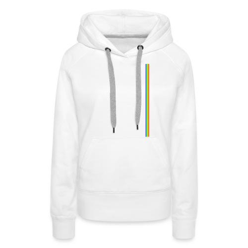 Linea Neon LGBT+ - Sudadera con capucha premium para mujer