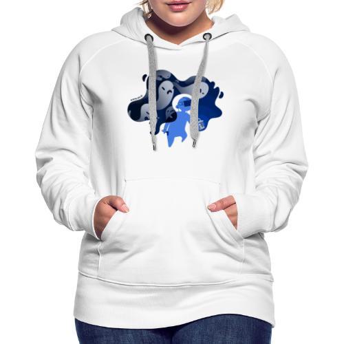 ETR VR fantômes - Sweat-shirt à capuche Premium pour femmes