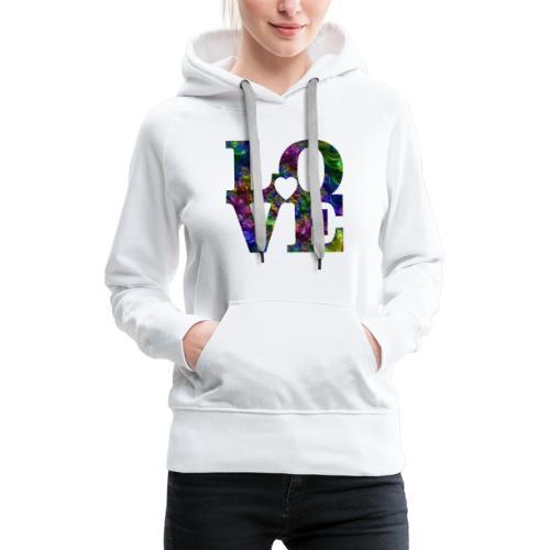 Love Fractale - Sweat-shirt à capuche Premium pour femmes
