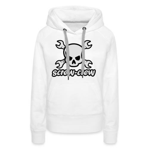 Logo_screw-crew_RZ_v.eps - Frauen Premium Hoodie