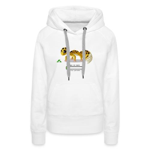 Gecko feeding time - Sweat-shirt à capuche Premium pour femmes