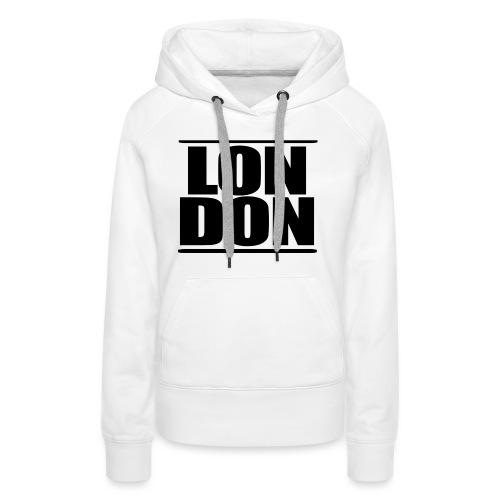 LON   DON Black - Women's Premium Hoodie