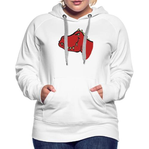 T Rex, Red Dragon - Women's Premium Hoodie