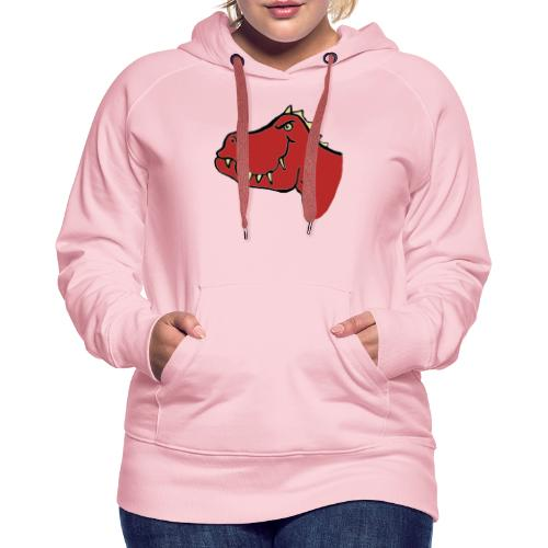 T Rex, Red Dragon - Women's Premium Hoodie