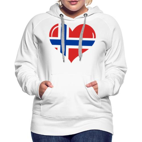 Herz Norwegen, I love Norway - Frauen Premium Hoodie