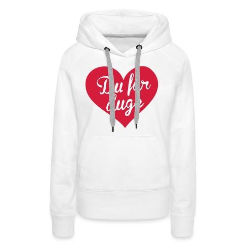 Ekte kjærlighet - Det norske plagg - Premium hettegenser for kvinner