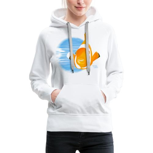 Poisson clown - Sweat-shirt à capuche Premium pour femmes