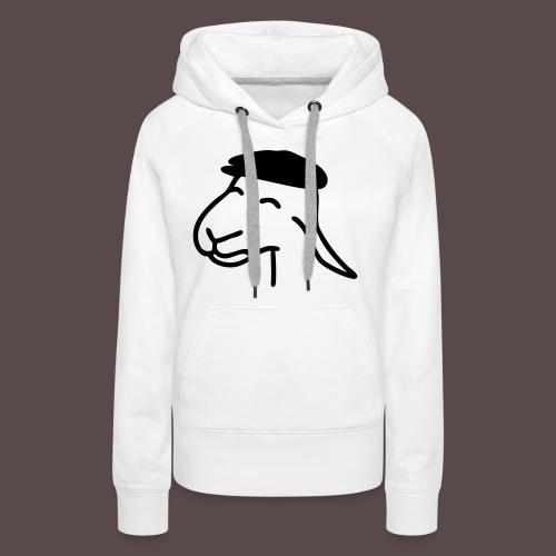 Pecorella contadina - Felpa con cappuccio premium da donna