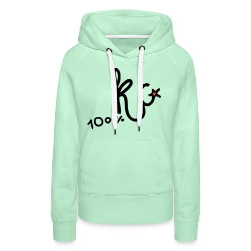 100%KC - Vrouwen Premium hoodie