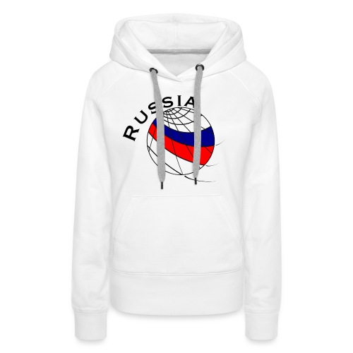 Russland Fußballmotiv - Sudadera con capucha premium para mujer