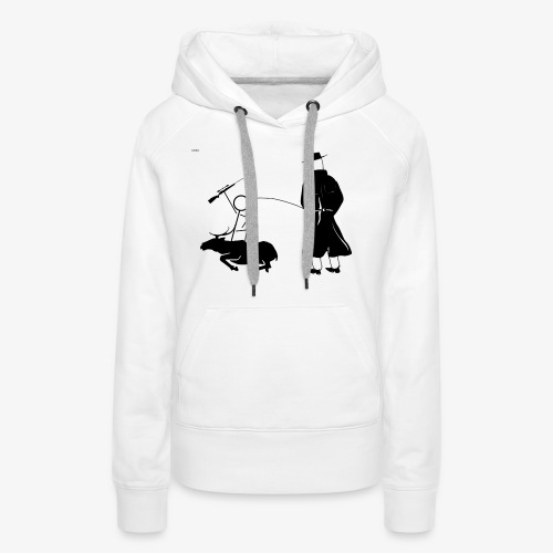 Pissing Man against hunting for wildlife - Frauen Premium Hoodie