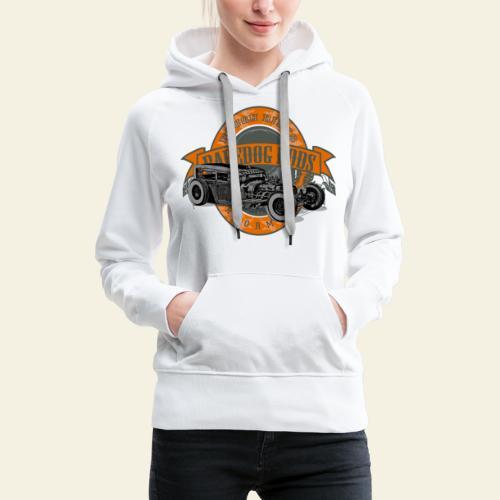 Raredog Rods Logo - Dame Premium hættetrøje