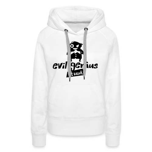 evil genius at work - Frauen Premium Hoodie