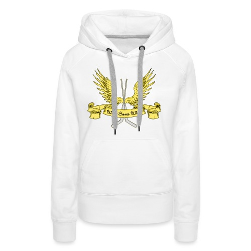 Who Saves Wins, Hockey Goalie - Women's Premium Hoodie