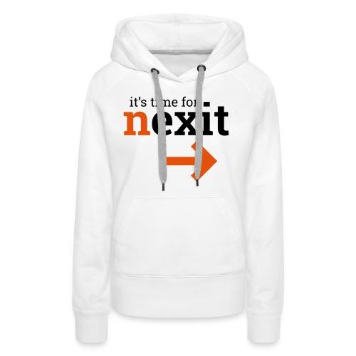 its time for nexit logo in zwart oranje - Vrouwen Premium hoodie