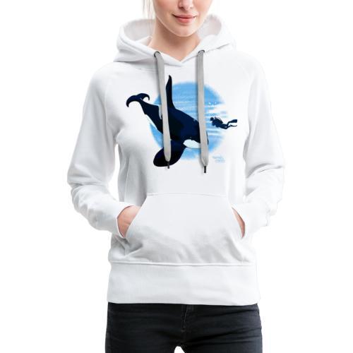 Orca en dappere duiker - Sweat-shirt à capuche Premium pour femmes