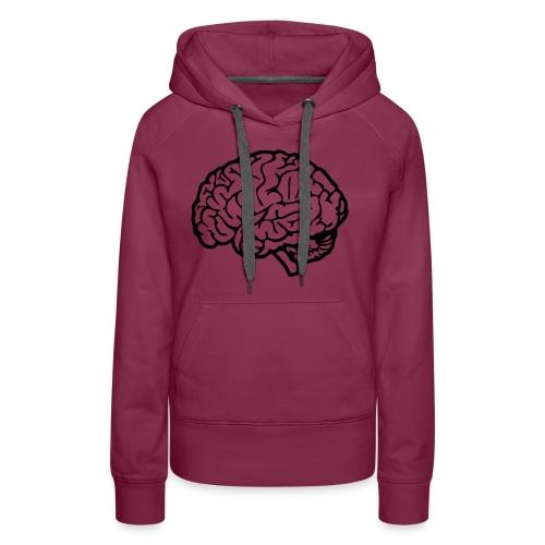 cerveau - Sweat-shirt à capuche Premium pour femmes