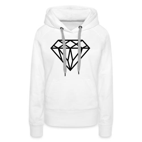 Diamond Graphic // Diamant Grafik - Frauen Premium Hoodie