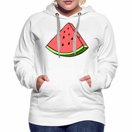 watermelon - Sudadera con capucha premium para mujer