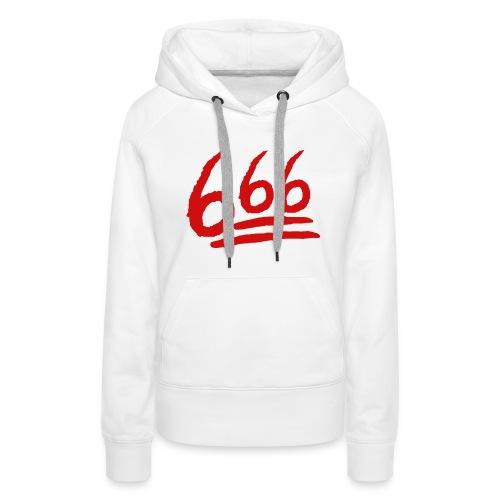 666 playera - Sudadera con capucha premium para mujer