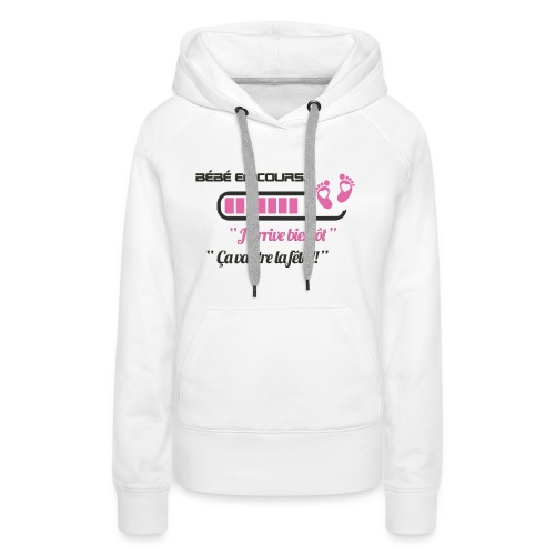 Bébé en cours de téléchargement - Sweat-shirt à capuche Premium pour femmes