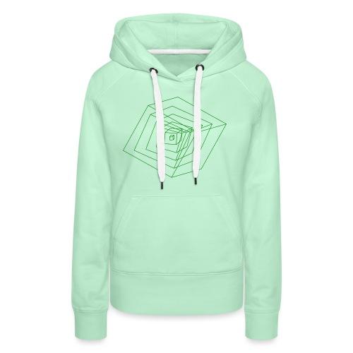 Cubes - Sweat-shirt à capuche Premium pour femmes