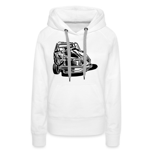 car crash - Sweat-shirt à capuche Premium pour femmes