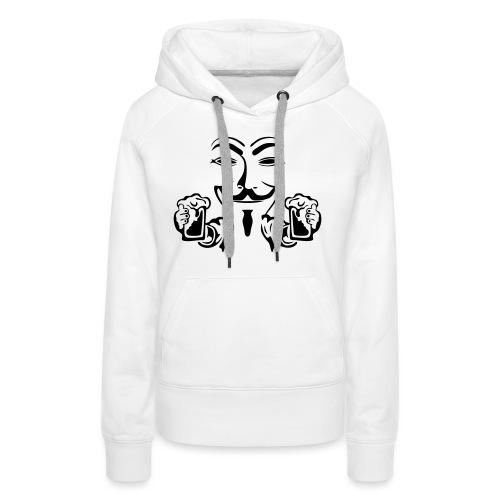 anonymous boit mousse biere alcool humou - Sweat-shirt à capuche Premium pour femmes